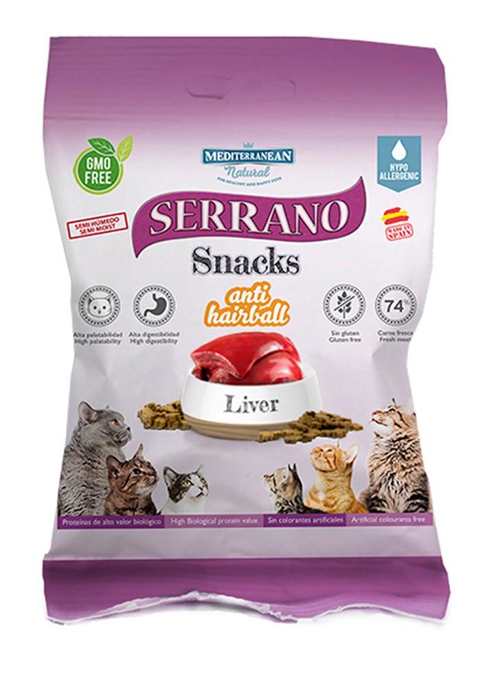Serrano Snacks con higado bolsa 50 gr