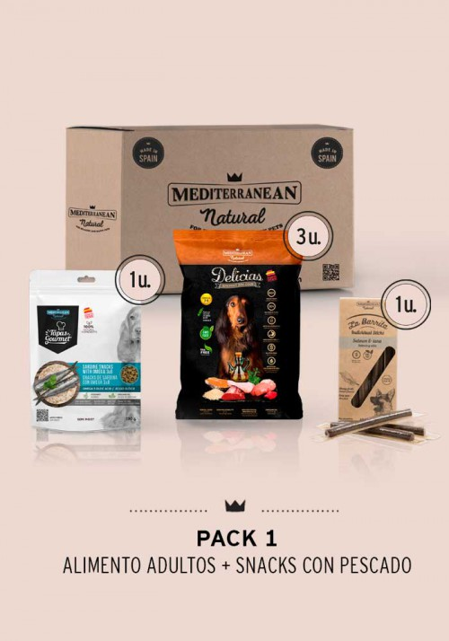 PACK1 - Alimento adultos + Snacks con pescado