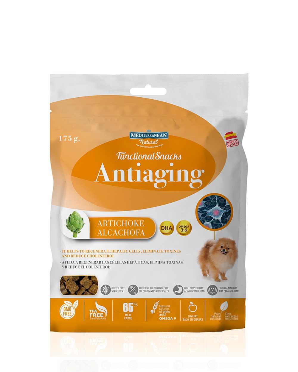 Functional Antiedad Snacks Para Perros Semi Húmedos Mediterranean Natural