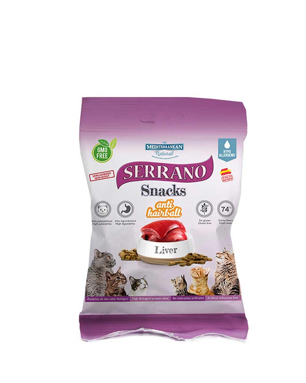 serrano snacks para gatos de higado de Mediterranean Natural