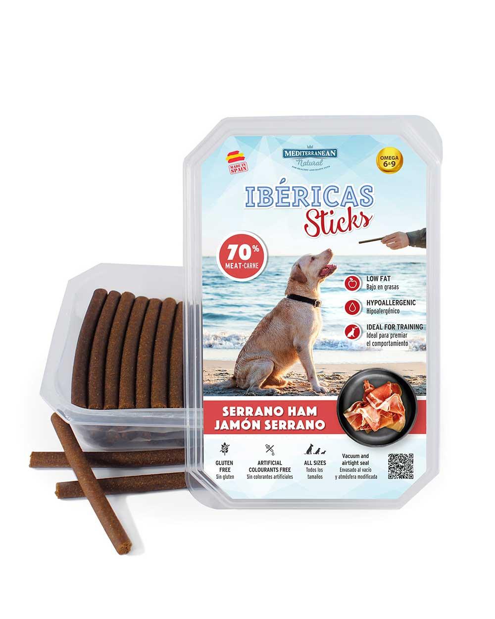 ibericas sticks de jamón serrano para perros Mediterranean Natural