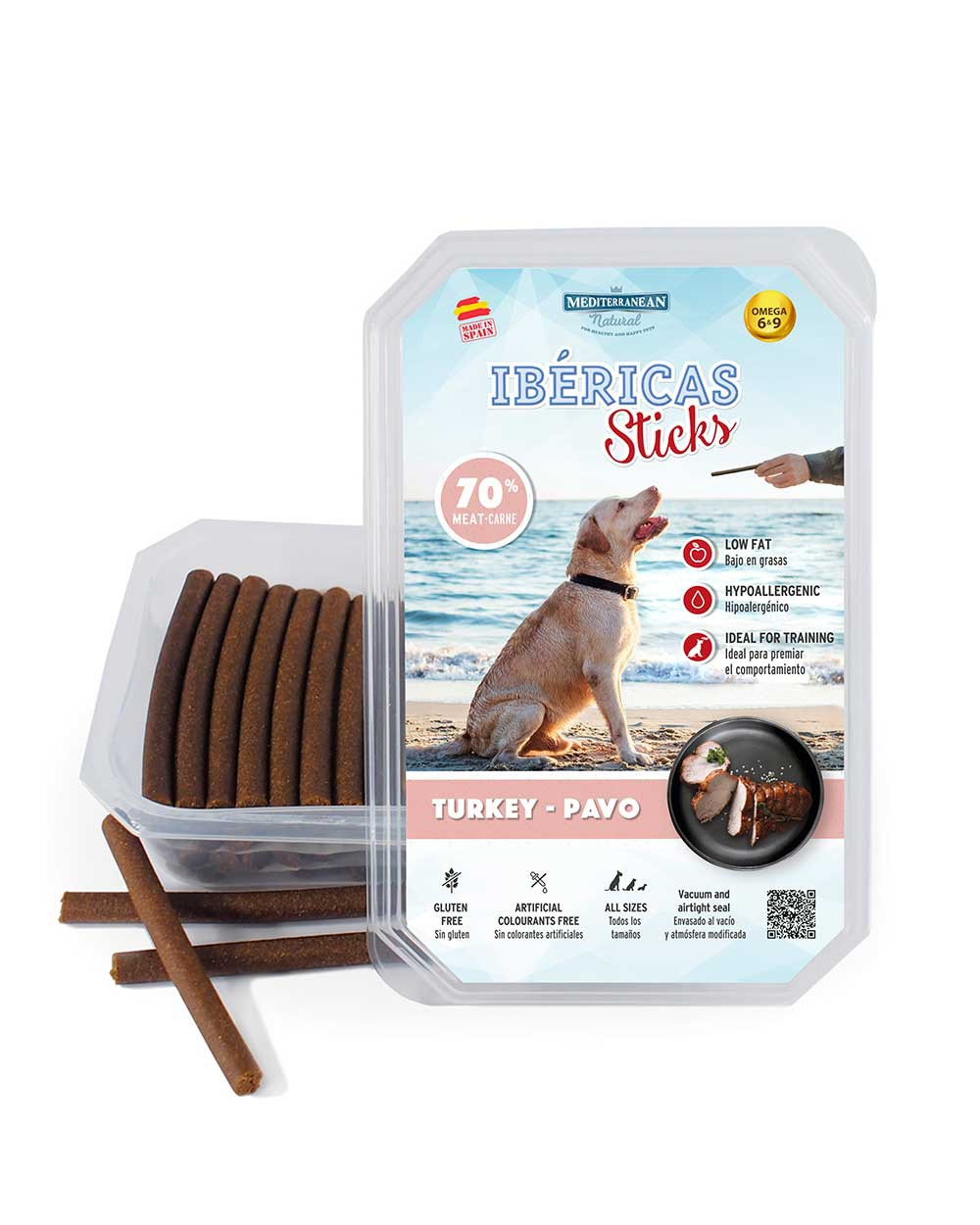 ibericas sticks de pavo para perros Mediterranean Natural