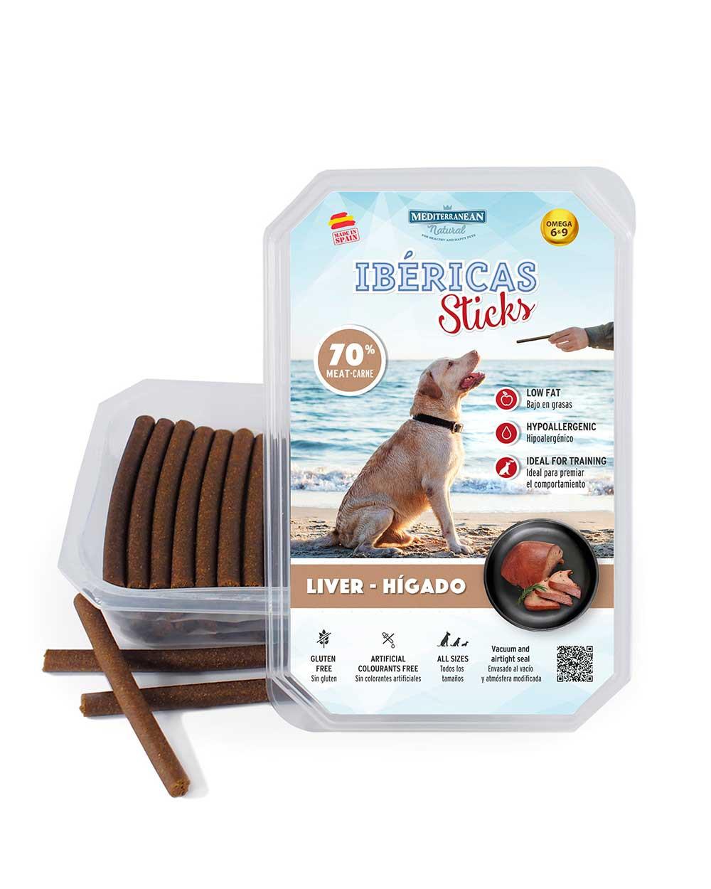 ibericas sticks de hígado para perros Mediterranean Natural