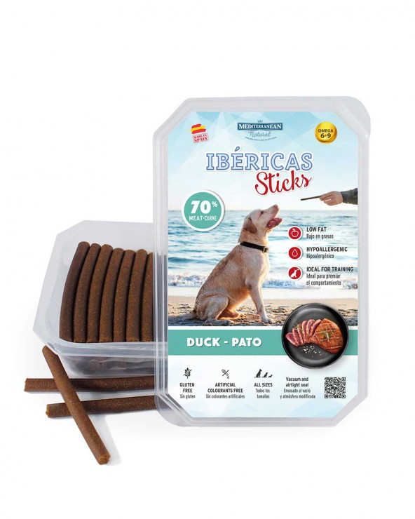 ibericas sticks de pato para perros Mediterranean Natural