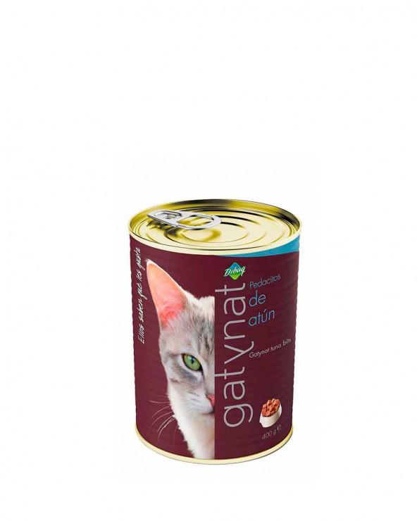 gatynat pedacitos de atun alimento húmedo para gatos